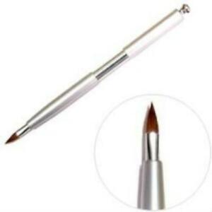 SILVER RETRACTABLE LIP BRUSH Liner Cosmetics Bare Face Makeup Gloss Lipstick