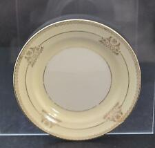 """Vintage Crown Potteries Bread Butter Gold Gilt Scroll Circles Flowers 6 1/8"""" P13"""