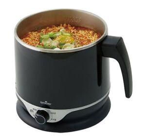 QS Electric Multi Cooking Pot Ramen Noodle Hot Water Kettle Cooker 1.8L BK