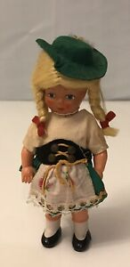 """Vintage ethnic doll  6"""" Tall hard plastic"""