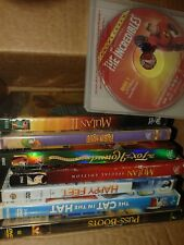 LOT OF 8 KIDS DVD ASSORTED MOVIES mostly Disney .. Children