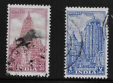 India Scott #235-36, Singles 1951 Complete Set FVF Used