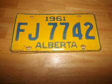 1961 ALBERTA License Plate FJ 7742