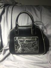 Vera Bradley black Bowler purse Satchel Bag in Black Retail $148