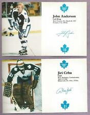 Assorted 1980 Toronto Maple Leafs Postcards