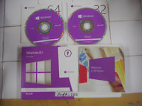 Microsoft Windows 8.1 Full Version 32Bit & 64Bit DVD MS WIN 8 =NEW RETAIL BOX=