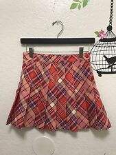 American Apparel Printed Tennis Julie Pink Plaid Skirt Size Small S