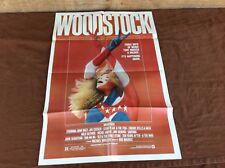 1970 Woodstock Original Movie House Full Sheet Poster
