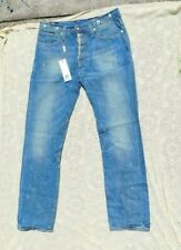 NEW WITH TAGS BLUE BLOOD MEN'S JEANS MARLON W COCK ROCKED WASH 36 W 34 L