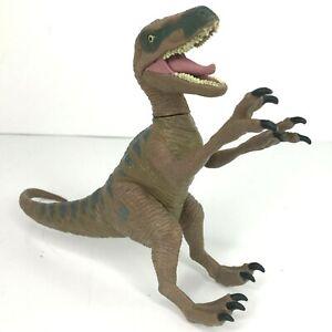 "Jurassic World Velociraptor Delta 2015 Green Dinosaur Park 10"" Action Figure Toy"
