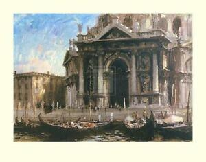 Edward Seago Gondolas By The Salute - Venice Limited Edition of 50