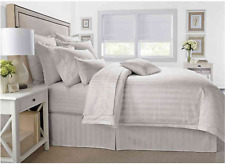 Wamsutta 500 Thread Count PimaCott Damask Stripe FULL QUEEN Comforter Set STONE