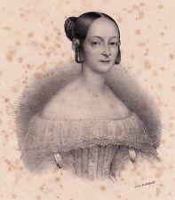 Lithographie XIXe Marie Taglioni Danse Dance Danseuse Ballet Ballerine