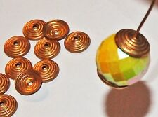 Art Deco Spiral Bead Caps Gold Plated high quality 10 pieces vintage