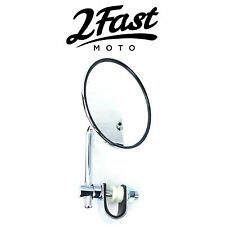 2FastMoto Chrome Clamp On Mirror Bobber Chopper Cruiser Kawasaki