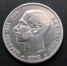 ALFONSO XII , 1 PESETA DE 1883 ESTRELLA 83 . PLATA