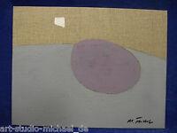 """Michael Feicht (geb. 1959) """"Flächige Komposition mit weißem Rechteck"""" abstrakt"""