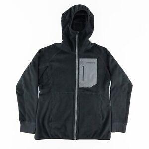 Patagonia Womens XL R3 Regulator Hoody Jacket Reversible Waffle Full Zip Black