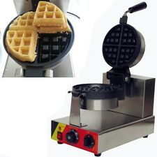110v 220v Electric Commercial Rotating Waffle Baker Maker Machine Iron