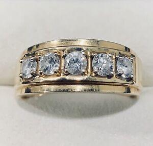 1.00Ct 14k Yellow Gold Diamond Ring Band Size 8