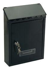 Mailbox Postman Mail Letterbox Model Garden Steel Black cm 21x6x30h