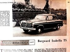 BORGWARD ISABELLA TS - 1958 - Road Test removed  from Autocar