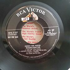 Elvis Presley RCA EPA 7-37 PERFECT FOR PARTIES / (RARE EP)  45 SHIPS FREE
