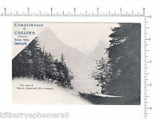 4356 Cailler Swiss Milk Chocolate c. 1900 advertising postcard, Lake Seealp