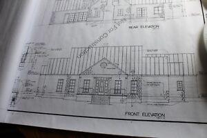 Blueprints House Plans Southern Design 1 1/2 story 2690 sq ft plus 2 car garage