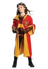 Child Kids Harry Potter Gryffindor Quidditch Robes Costume Size L (Used)