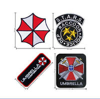 4 PCS RESIDENT EVIL RACCOON POLICE UMBRELLA PATCH BADGE FREE SHIPPING