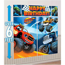 BLAZE AND THE MONSTER MACHINES WALL POSTER DECORATING KIT ~ Party Supplies Nick