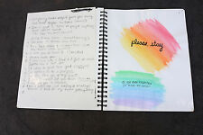 SKETCH BOOK LARGE ARTIST Drawing Notebook Watercolors Sad Thoughts Old Photos
