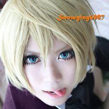 Black Butler Alois Trancy Wig Cosplay Anime Blonde Hair Unisex Short Full Wig