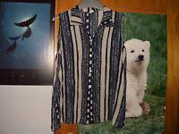 schöne Kurzarm Bluse Gr. 42  blaufarben
