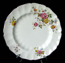 "Johnson Brothers Old Chelsea Pink Rose & Yellow Rose 9 7/8"" Dinner Plate"