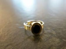 Schöner Silberring 835 er Silber Ring Gr. 56 Größe verstellbar Onyx Stein