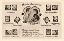 More details for vintage 1950s german stamp postcard, briefmarken sprache, stamp language ph6