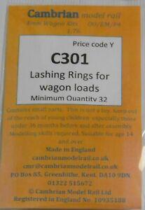 CAMBRIAN C301 LASHING RINGS FOR WAGON LOADS  OO GAUGE