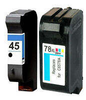 Non-OEM Replaces Fit For HP 45 & 78 Deskjet 1200 1220c 1250 1280 Ink Cartridges