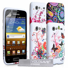 Accessories For The Samsung Galaxy S Advance Floral Design Silicone Case Cover