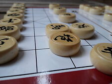 "Chinese chess XIANGQI, 10.6"" board, BIRCH WOOD ""drum"" chesspieces with warranty"