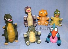 Pizza Hut Land Before Time Puppets Complete Set - Lot of 6, Boys & Girls, 3+