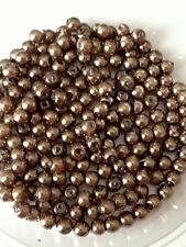 4mm vetro Finte Perle-Latte Marrone Cioccolato (200 Perline)