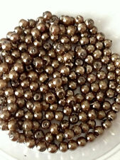 4 Mm Cristal perlas de imitación-Chocolate Con Leche Brown (200 Granos)