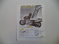 advertising Pubblicità 1987 STORM e ALEX PUZAR/CLAUDIO MACCIOTTA SU MBA 125