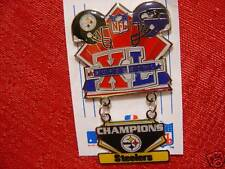 Super Bowl 40 Champs Dangling Pin Pittsburgh Steelers vs Seattle Seahawks