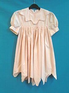 Vintage Girls Dress Light Pink 1960's Bridesmaid Flower Girl Short Sleeve