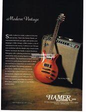 1994 Hamer Archtop Studio Electric Guitar Magazine Ad