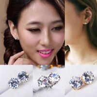 1 Pair Fashion Women Crystal Rhinestone Ear Drop Dangle Stud Earrings Jewelry